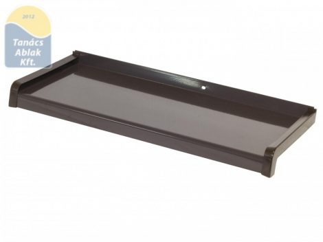 180 mm mély sötétbarna, extrudált, alumínium párkány