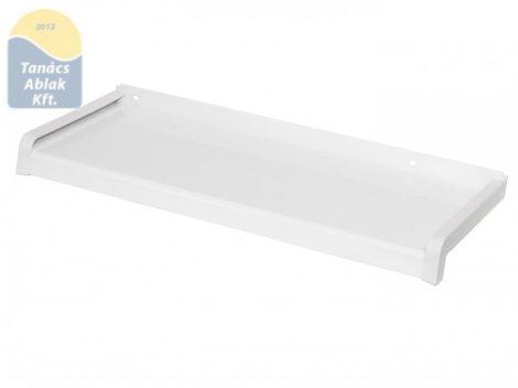 50 mm mély fehér, extrudált, alumínium párkány