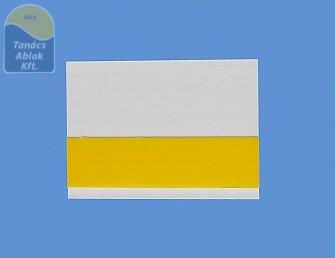 Öntapadós műanyag takaróléc 70mm fehér